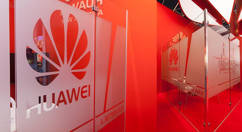 Huawei stand expocommunicatie Co-Creatie Buro