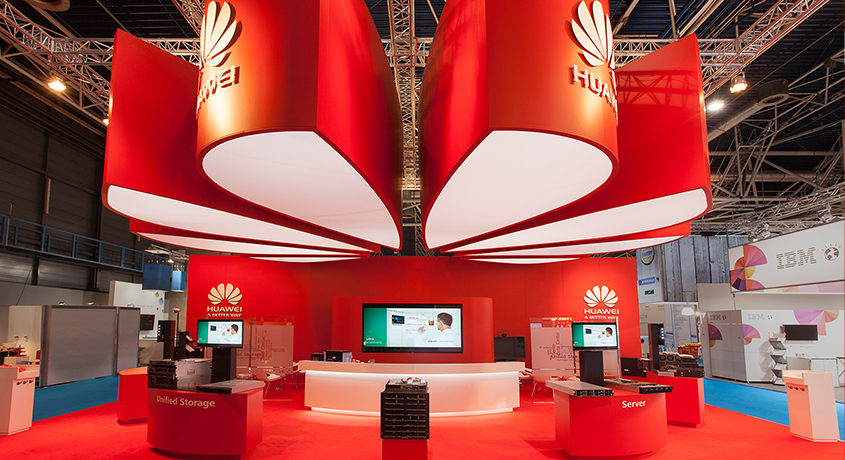 Huawei Stand co-Creatie Buro Expocommunicatie